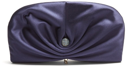 Jimmy Choo 'Vivien' clam satin clutch