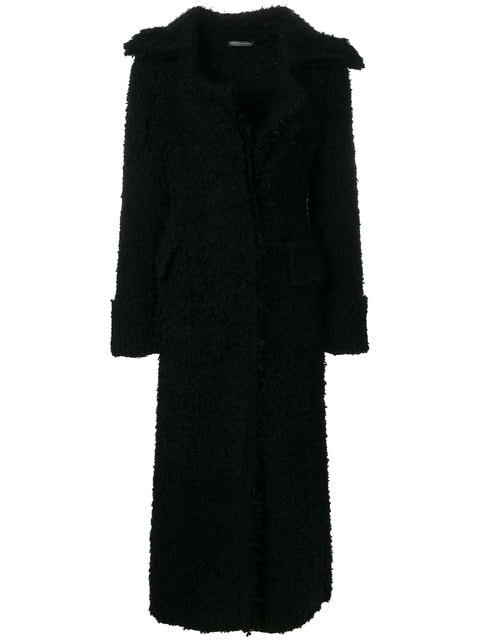 Alexander McQueen Black Metallic Tweed Coat