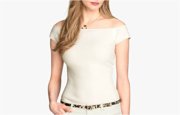 H&M off-shoulder ribbed top