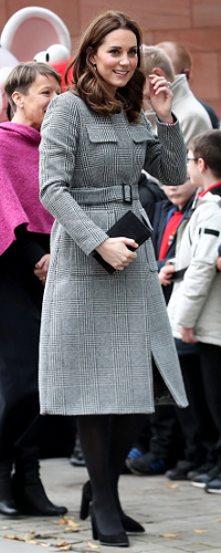 LK Bennett Delli Check Coat as seen on Kate Middleton, The Duchess of Cambridge at the Children's Global Media Summit