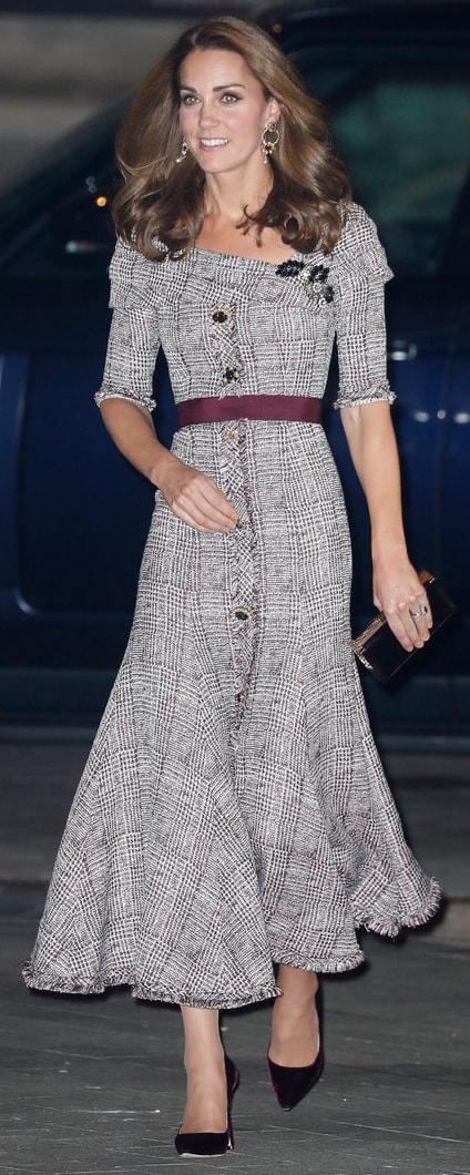 Erdem Iman Tweed Midi Dress as seen on Kate Middleton, The Duchess of Cambridge at Opening of Photography Centre at the V&A Museum