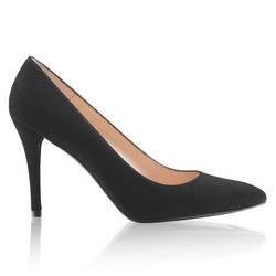 Stuart Weitzman Power black suede pumps