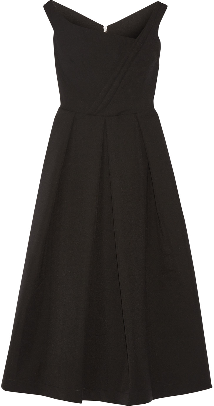 Preen Finella black midi dress
