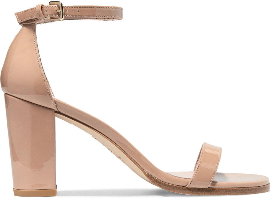Stuart Weitzman 'NearlyNude' Patent Ankle Strap Sandals