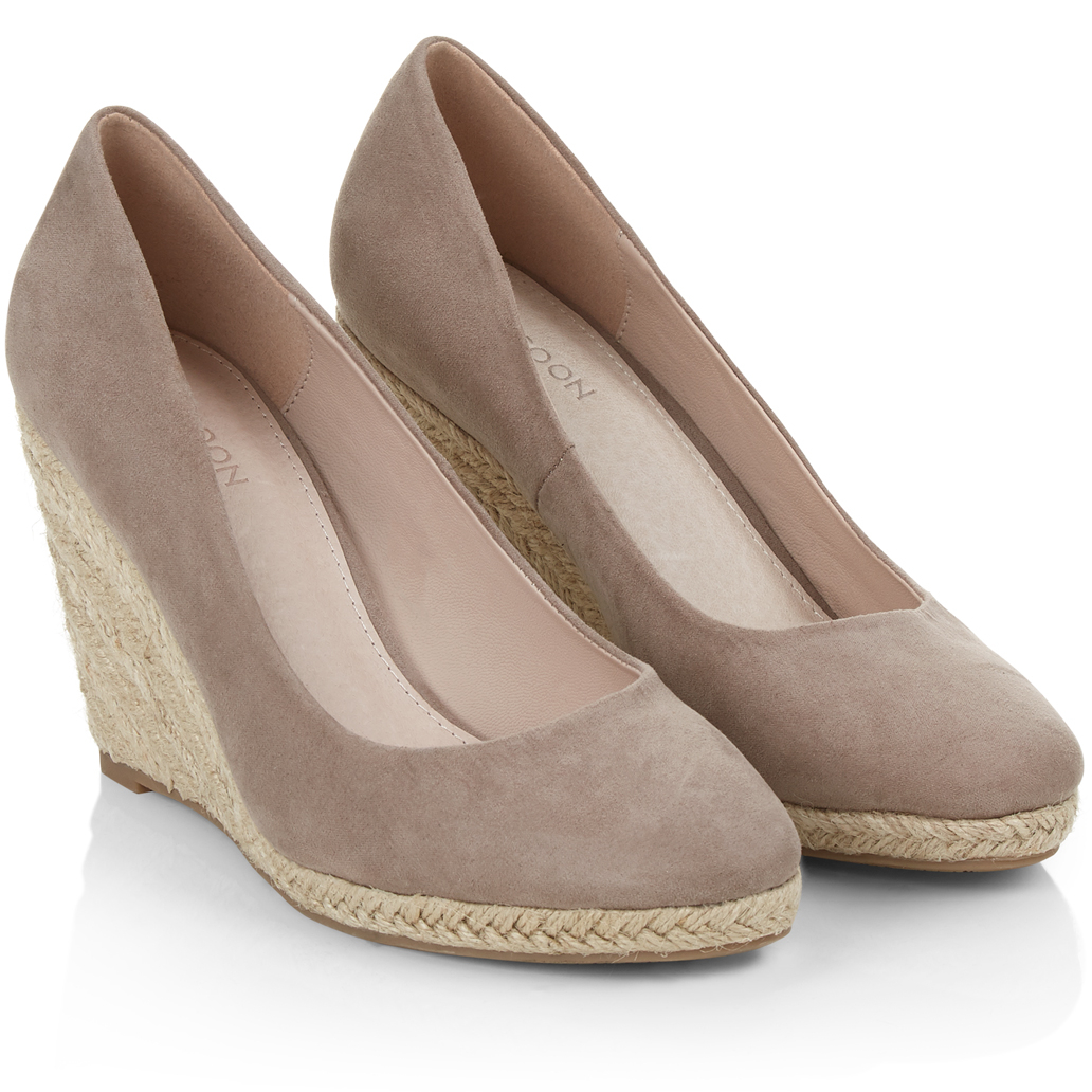 157726135e3 Monsoon Fleur Taupe Suede Espadrille Wedges - Kate Middleton Shoes - Kate s  Closet