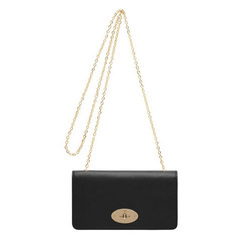 Mulberry Bayswayter black suede clutch