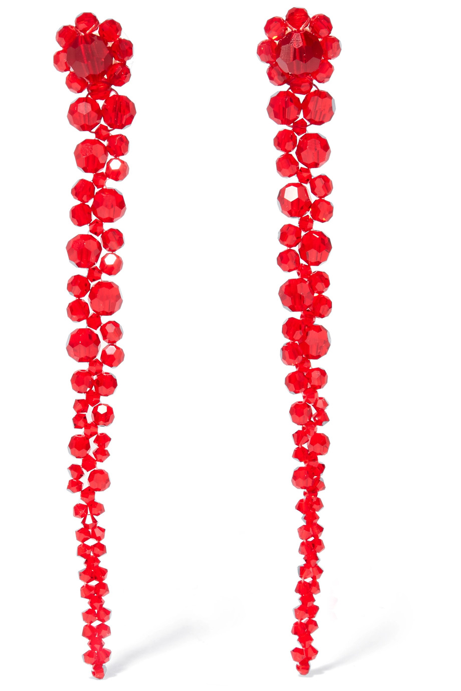 Simone Rocha red crystal earrings