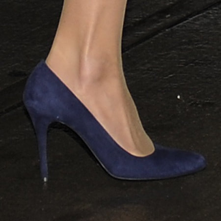 Alexander McQueen Navy Suede Pumps - Kate Middleton Shoes ...