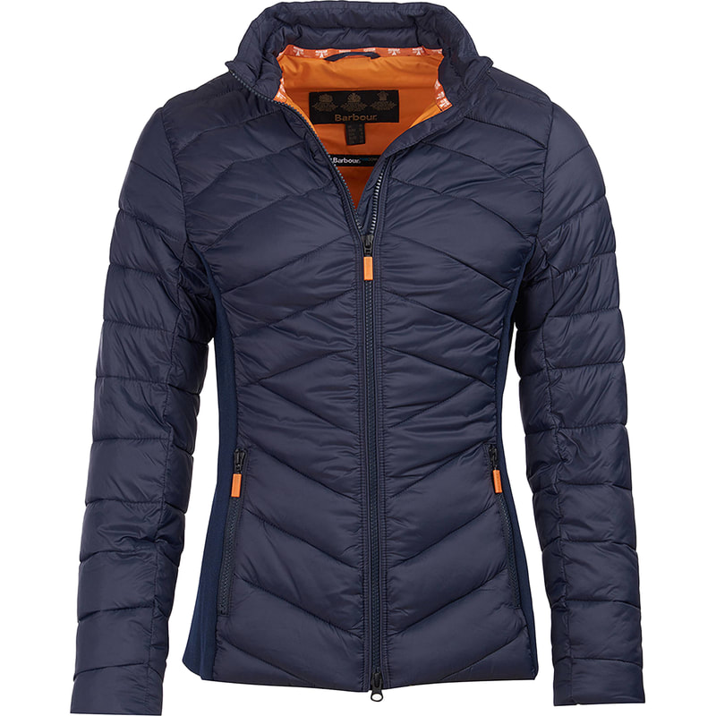 Barbour Navy/Marigold Longshore Quilted Jacket