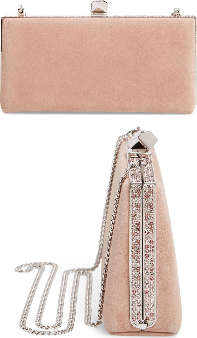 Duchess Kate wears Jimmy Choo Celeste Ballet Pink Suede Clutch