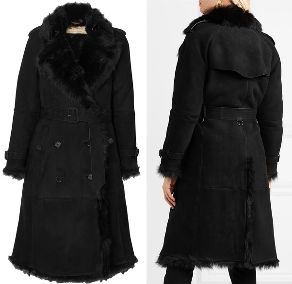 Burberry Tolladine shearling trench coat as seen on Kate Middleton