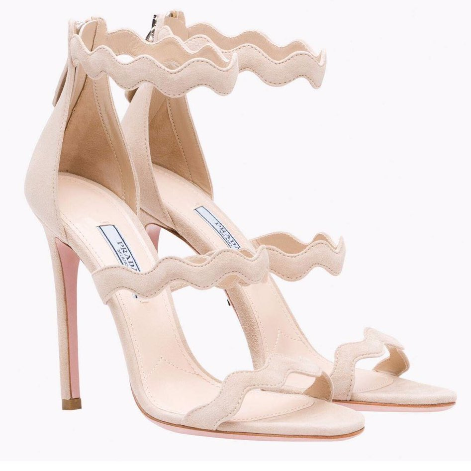 Prada scalloped strap sandals