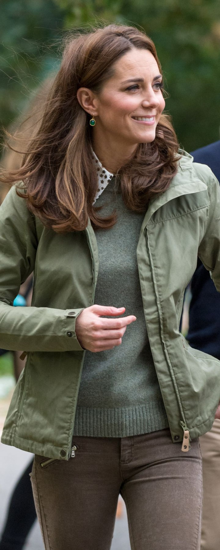 Joseph Rainer Bud Print Blouse as seen on Kate Middleton, the Duchess of Cambridge
