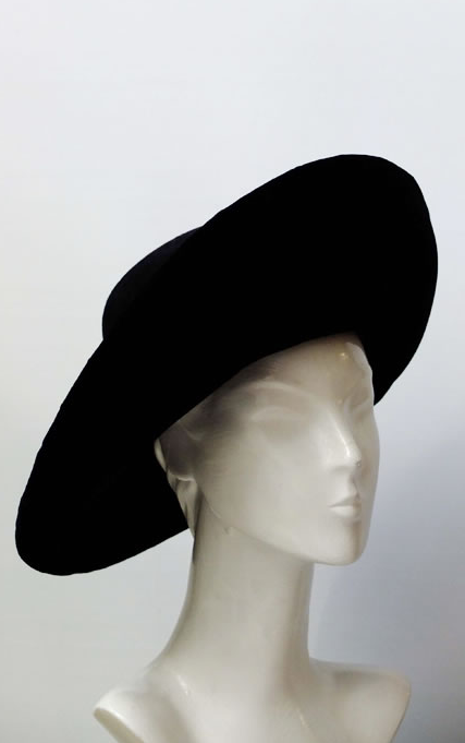 John Boyd black wide-brimmed hat