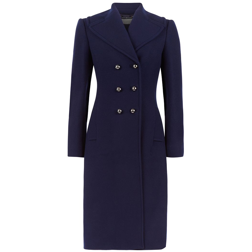 Hobbs London Gianna French Navy Wool Coat