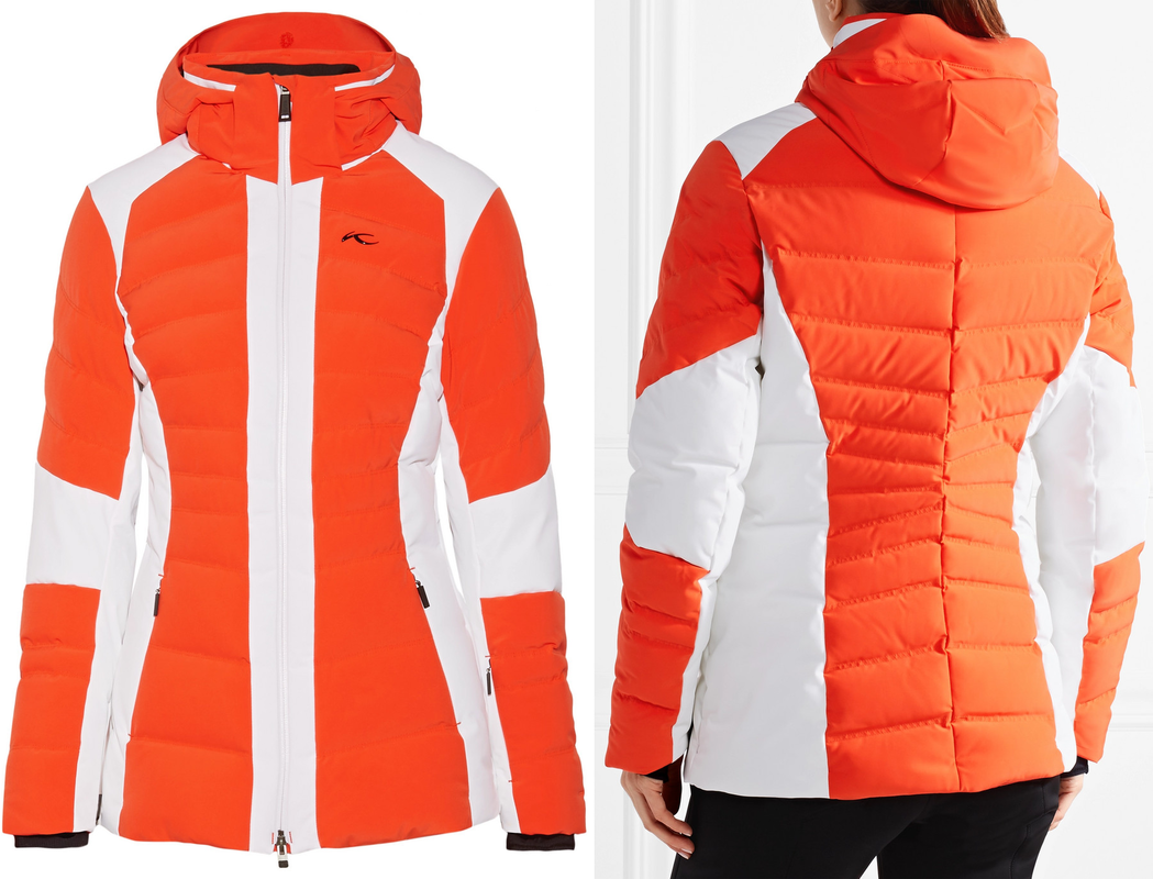Duchess of Cambridge Kate Middleton wears Kjus Duana two-tone quilted shell down jacket