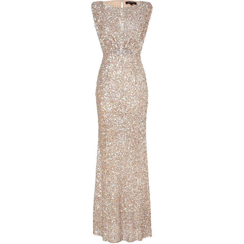 Jenny Packham Pale Gold Sequin Gown Kate Middleton Dresses