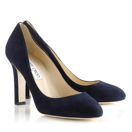 Jimmy Choo Georgia Navy Suede Pumps