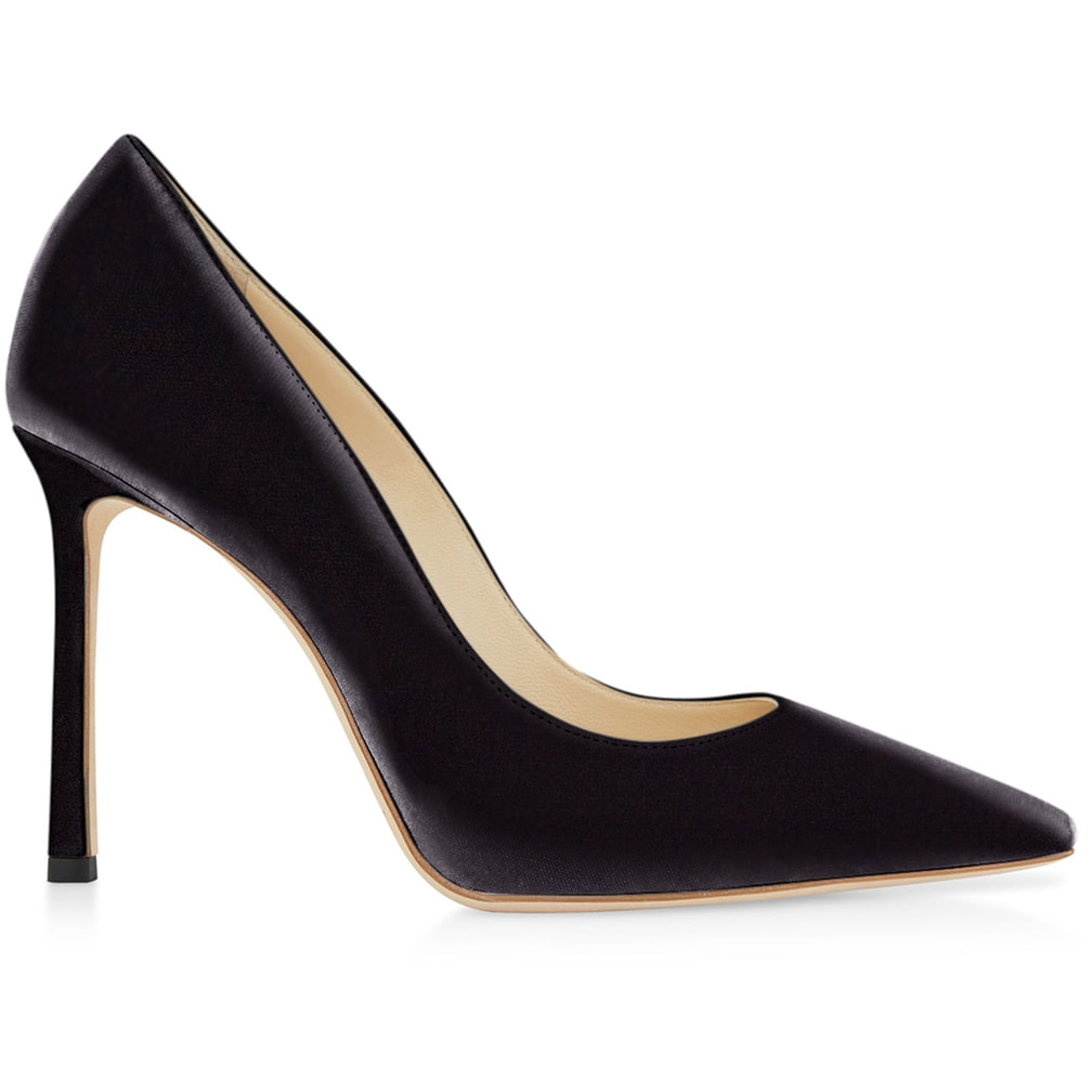 Jimmy Choo 'Romy 100' Black Velvet Pumps