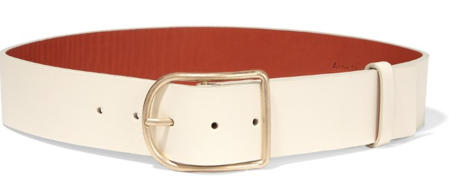 ACNE STUDIOS 'Orione' cream leather waist belt