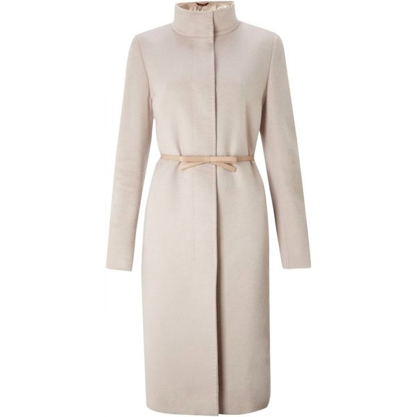 Max Mara Studio 'Belli' Pink Funnel Neck Coat