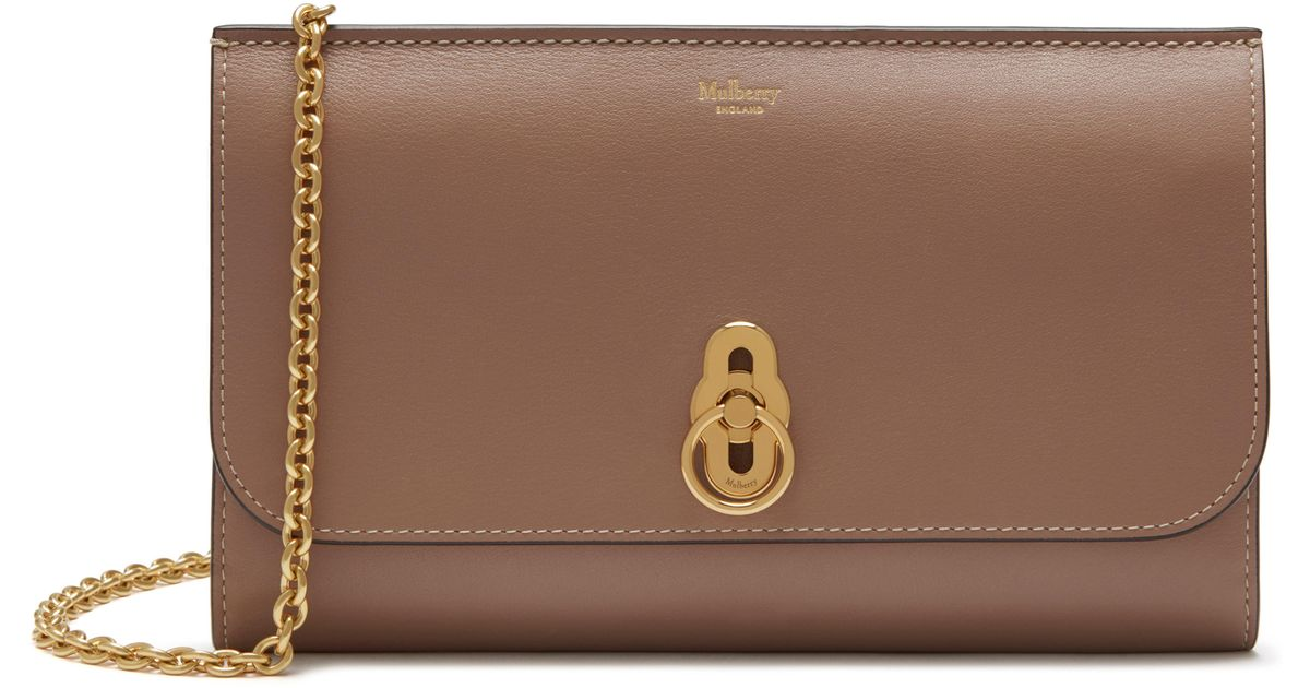 Mulberry Amberley Clutch in Dark Blush Smooth Calf Leather