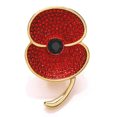he Poppy Collection ® Large Brooch Gold Tone' brooch