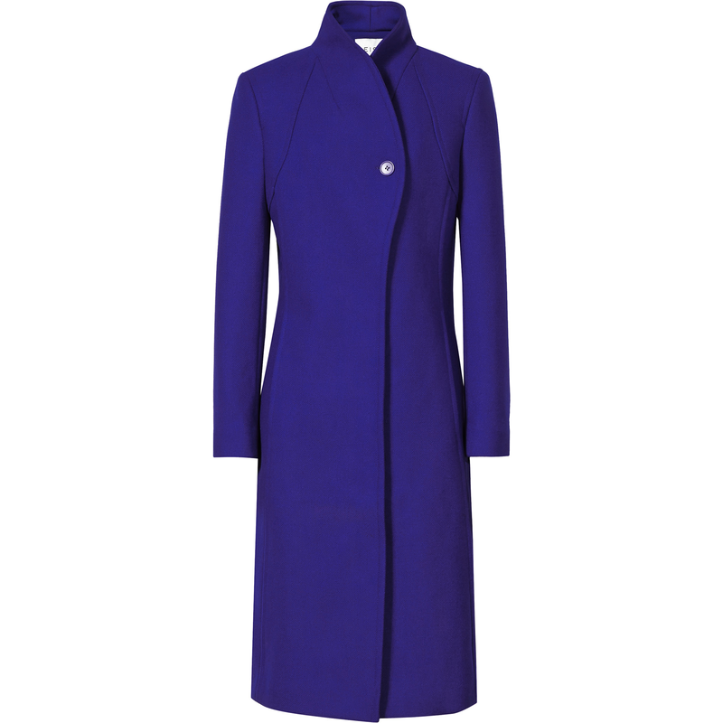 Reiss Emile Passion Blue Funnel Neck Coat