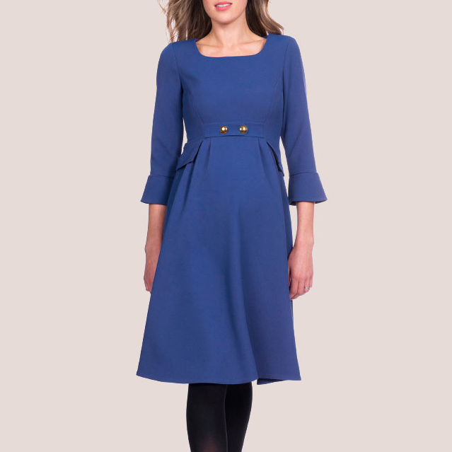 Seraphine Valerie Royal Blue Tailored Maternity Dress