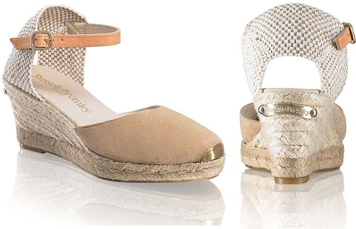 Russell & Bromley Coco-Nut Ankle Strap Espadrilles as seen on Kate Middelton Duchess of Cambridge
