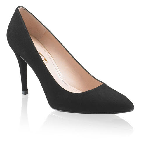 Stuart Weitzman 'Power' Black Suede Pumps