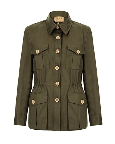 Troy London 'The Tracker' Jacket in Olive