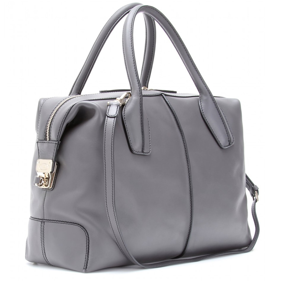 Tod's Dove Grey D-Styling Bauletto Bag
