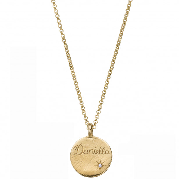 Daniella Draper Personalised Gold Midnight Moon Necklace