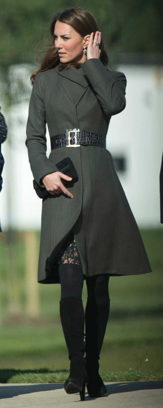 Great Plains Cezanne Pine Needle Pleated Dress as seen on Kate Middleton, The Duchess of Cambridge.