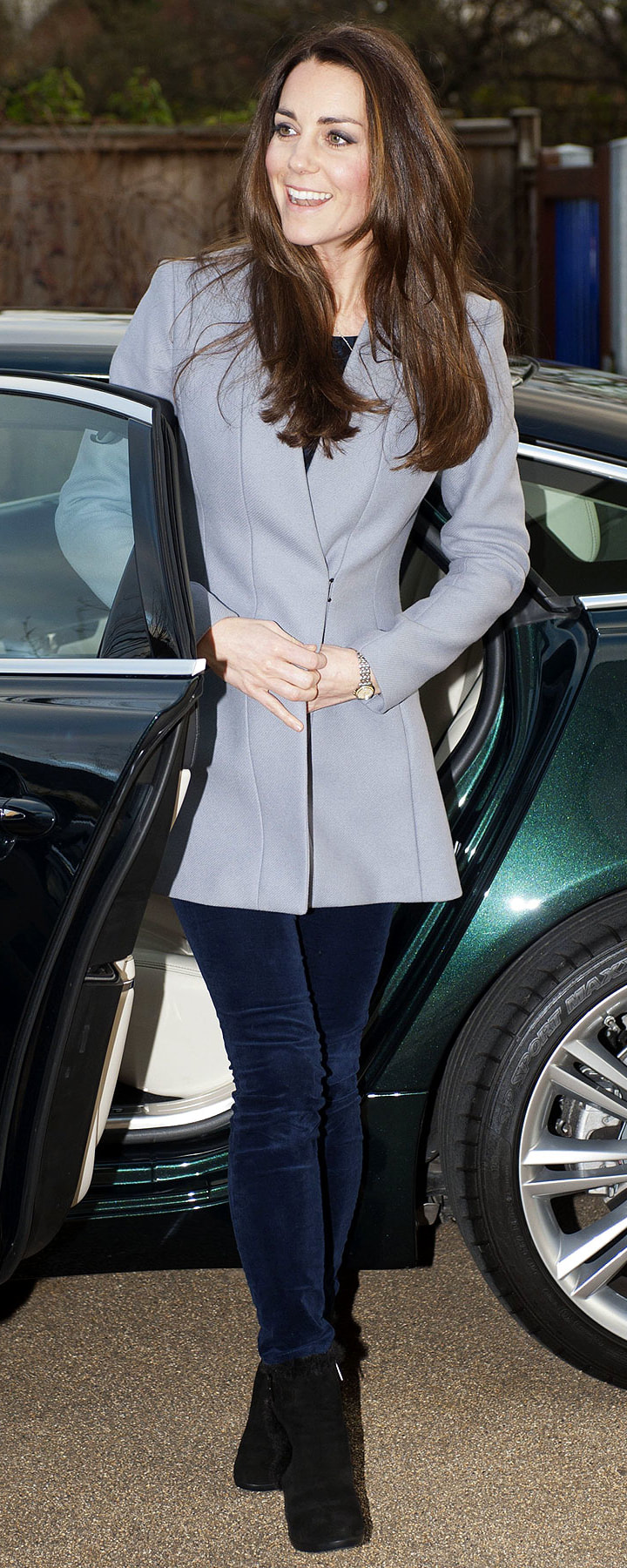 Reiss Delany Grey Coat as seen on Kate Middleton, The Duchess of Cambridge