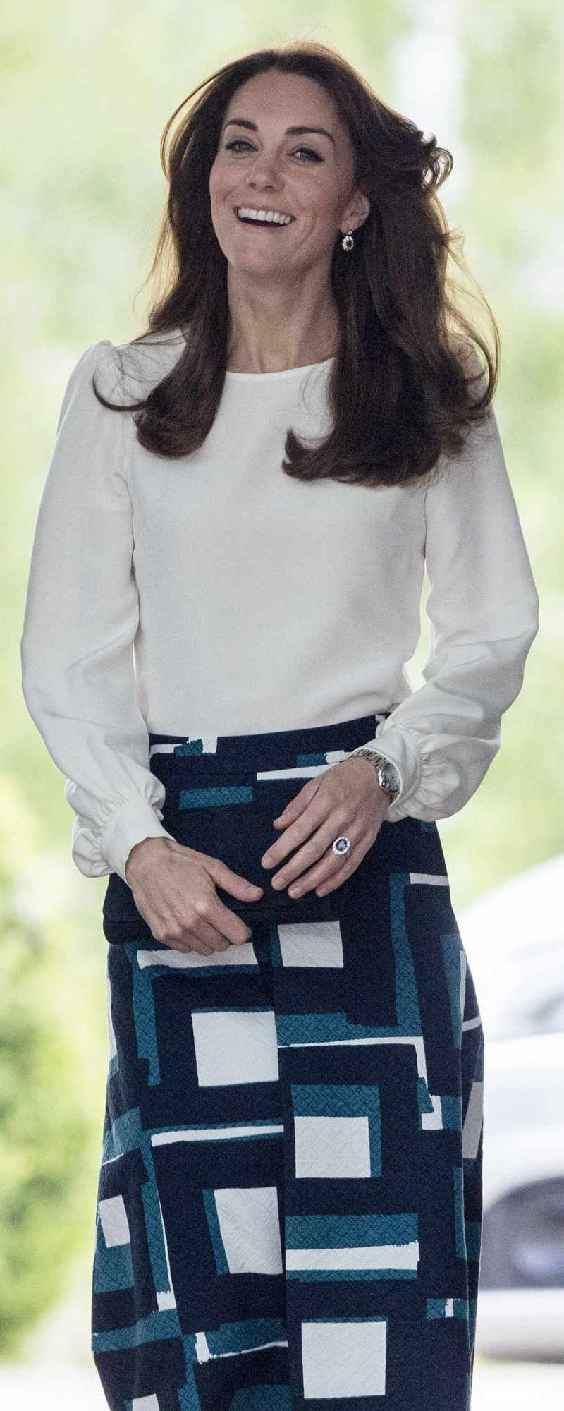 Goat Binky Silk Blouse as seen on Kate Middleton, The Duchess of Cambridge.
