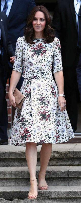 Stuart Weitzman NearlyNude Patent Ankle Strap Sandals as seen on Kate Middleton, The Duchess of Cambridge on Day 2 of Royal Visit Poland 2017
