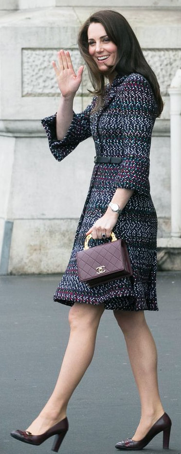 Mulberry Small Darley Bag in Hibiscus Red Croc as seen on Kate Middleton, The Duchess of Cambridge.