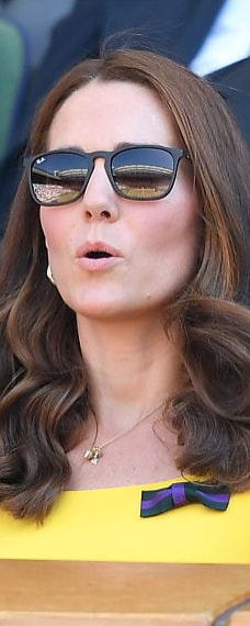 Ray-Ban Youngster Sunglasses as seen on Kate Middleton, the Duchess of Cambridge at Wimbledon Men's singles final 2018