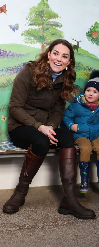 12 Feb 2020 - Barbour Ladies Waxed Defence Jacket as seen on Kate Middleton, The Duchess of Cambridge at The Ark Open Farm, Northern Ireland