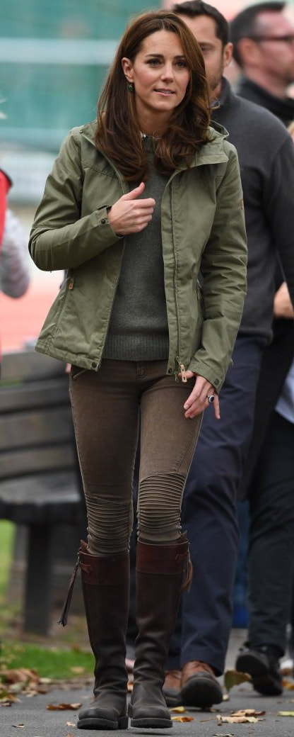 Fjallraven Green Stina Jacket as seen on Kate Middleton, The Duchess of Cambridge at Sayers Croft Forest School and Wildlife Garden