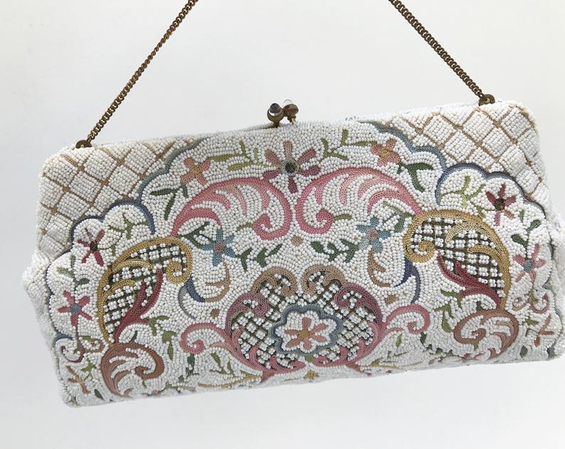 Josef beaded vintage clutch bag