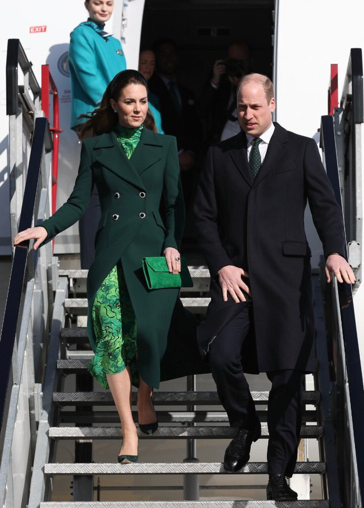 Duke & Duchess of Cambridge arrive in Dublin for Royal Visit to Ireland in March 2020