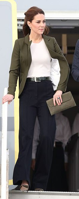 Jigsaw High Waisted Sport Luxe Trousers as seen on Kate Middleton, The Duchess of Cambridge