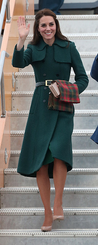 York Scarves Canadian Maple Leaf Tartan Scarf as seen on Kate Middleton, the Duchess of Cambridge.