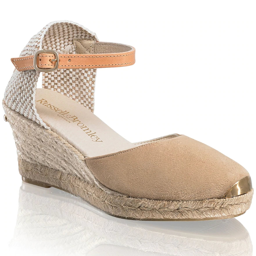 Russell & Bromley 'Coco-Nut' Nude Ankle Strap Espadrilles