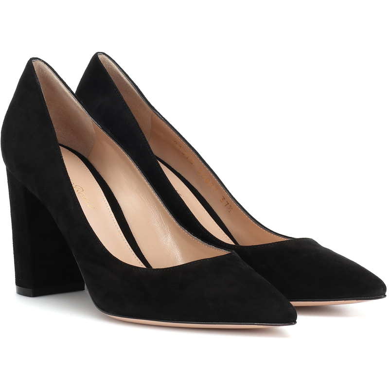 Gianvito Rossi 'Piper' 85 Black Suede Pumps