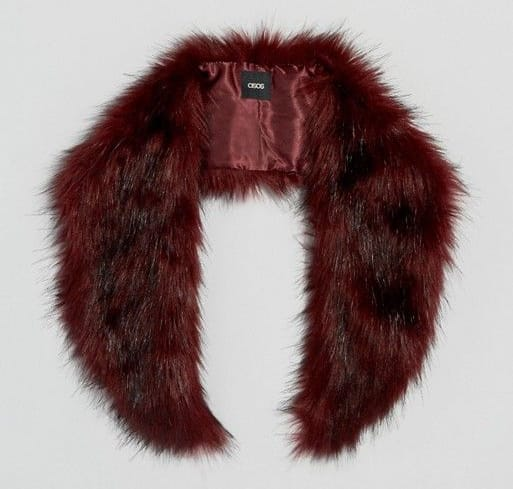 ASOS Faux Fur Mini Slot Through Collar