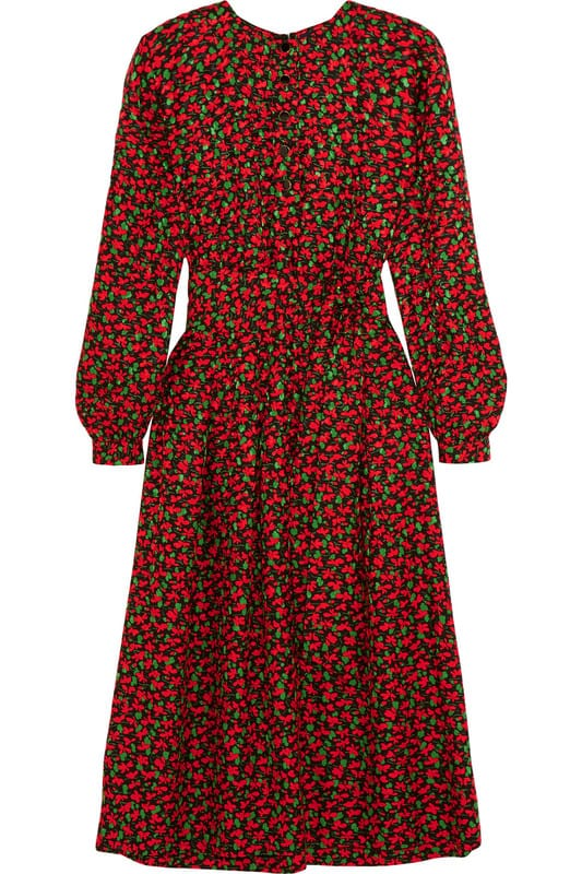 Vanessa Seward Cai floral-print silk-jacquard dress